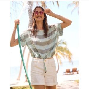 Anthropologie Akemi + Kin Striped Crop Top